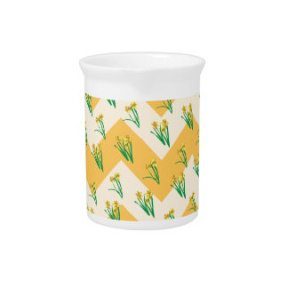 Daffodils Pattern Pitcher