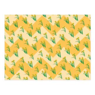 Daffodils Pattern Postcard