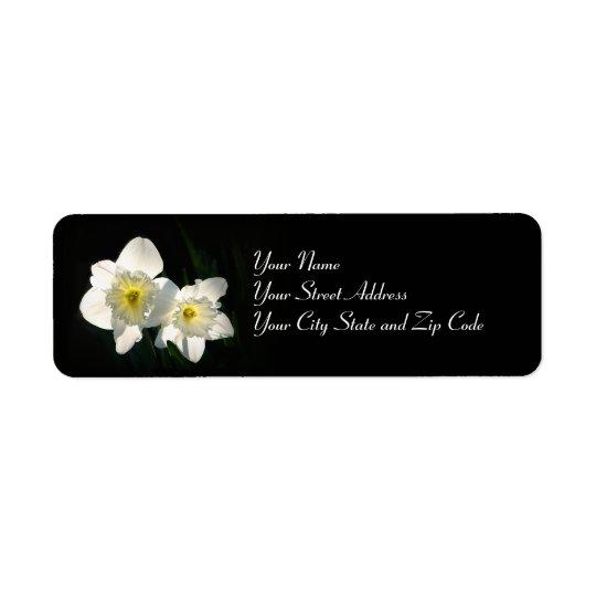Daffodils Return Address Label