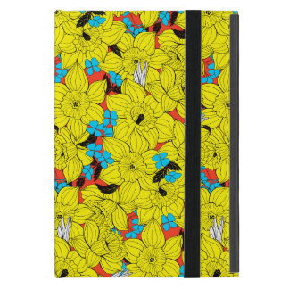 Daffodils spring floral pattern cover for iPad mini
