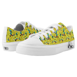 Daffodils spring floral pattern low tops