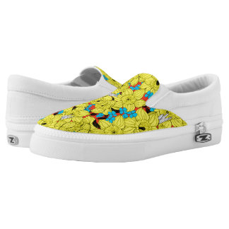 Daffodils spring floral pattern slip on shoes