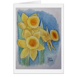 Daffodils - Watercolor Card