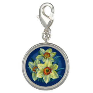 Daffodils watercolor painting spring art charm