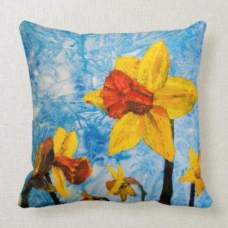 Daffy Daffs of Spring Cushion