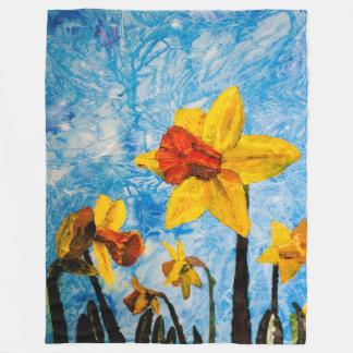 Daffy Daffs of Spring Fleece Blanket