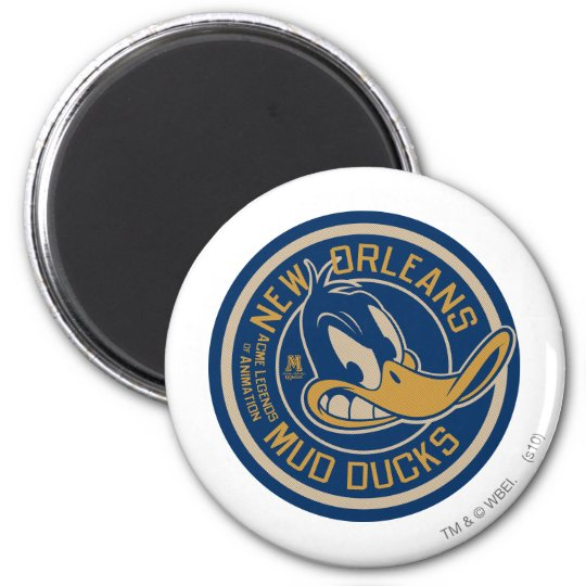 DAFFY DUCK™ Mud Ducks Round Logo Magnet