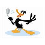 Daffy Duck Singing Post Card