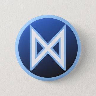 Dagaz Daeg Rune 6 Cm Round Badge