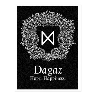 Dagaz /Happiness/ Black Version Postcard
