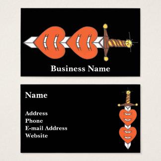 Dagger Through Hearts Business Card