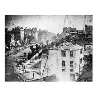Daguerre Boulevard du Temple First Photograph Postcard