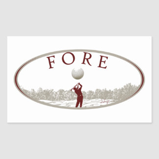 DAHJO Sports Series Golf Rectangular Sticker