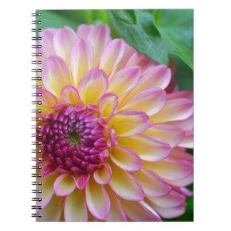 Dahlia Beauty Spiral Note Book