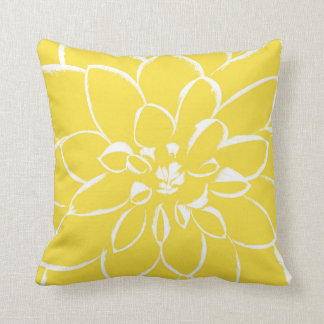 Dahlia Buttercup | Yellow Flower Cushion