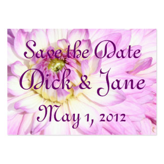 Dahlia Delight, Save the Date Pack Of Chubby Business Cards