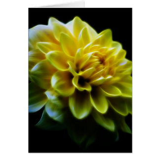 Dahlia flower and meaning card