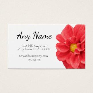 Dahlia Flower Business Card