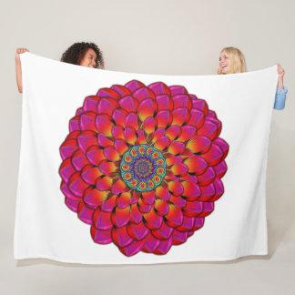 Dahlia Flower Endless Eye Abstract Fleece Blanket