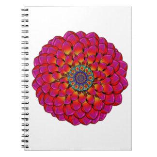 Dahlia Flower Endless Eye Abstract Notebook