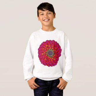 Dahlia Flower Endless Eye Abstract Sweatshirt