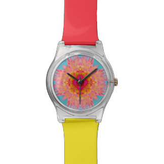 Dahlia Flower Fractal Watch