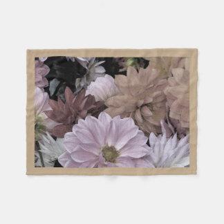 Dahlia Flower Garden Abstract Fleece Blanket