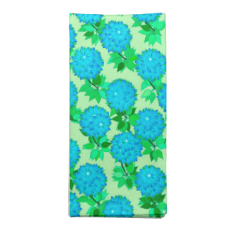 Dahlia flowers in turquoise blue and green napkin
