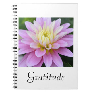 Dahlia Gratitude Journal Notebook