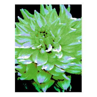 Dahlia - Honeymoon  - earth tone - green - Postcard