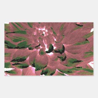 Dahlia - Honeymoon  - earth tone Rectangular Sticker
