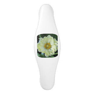 Dahlia Light Yellow Flower Ceramic Cabinet Pull