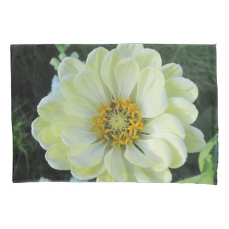 Dahlia Light Yellow Flower Pillowcase