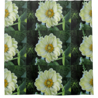 Dahlia Light Yellow Flower Shower Curtain