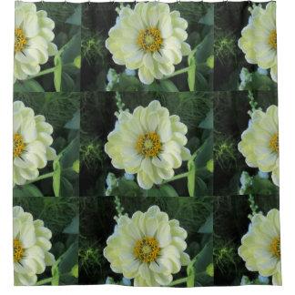 Dahlia Light Yellow Flower Shower Curtain