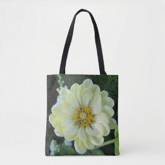 Dahlia Light Yellow Flower Tote Bag
