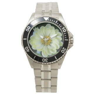 Dahlia Light Yellow Flower Watch