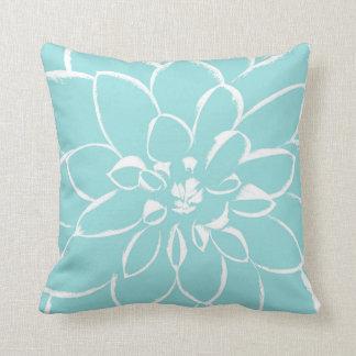 Dahlia Limpet Shell | Blue Throw Pillow