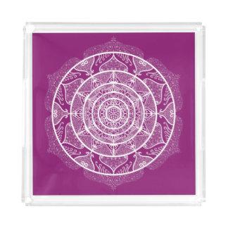 Dahlia Mandala Acrylic Tray