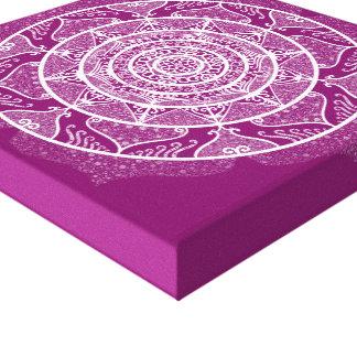Dahlia Mandala Canvas Print