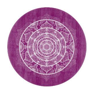 Dahlia Mandala Cutting Board