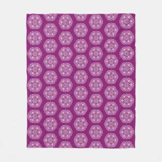Dahlia Mandala Fleece Blanket