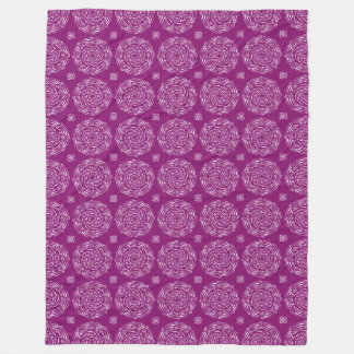 Dahlia Mandala Fleece Blanket