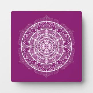 Dahlia Mandala Plaque