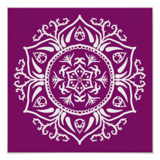 Dahlia Mandala Poster