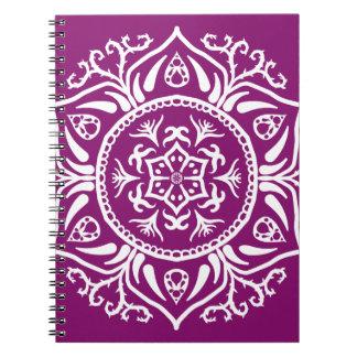 Dahlia Mandala Spiral Notebook