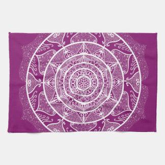 Dahlia Mandala Tea Towel