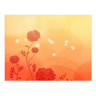 Dahlia Petal Stencil Floral Digital Art Postcard