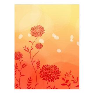 Dahlia Petal Stencil Floral Digital Art Postcards