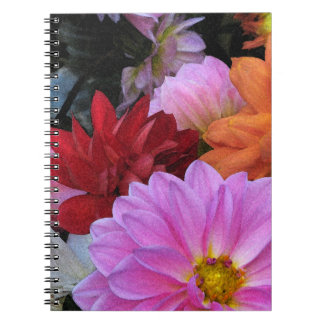 Dahlia Petals Notebooks